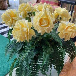 Silk Floral Arrangement in Yellow